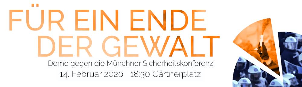 Demo gegen die Münchner Sicherheitskonferenz am 14. Februar